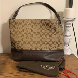 Coach signature bucket handbag tote purse brown